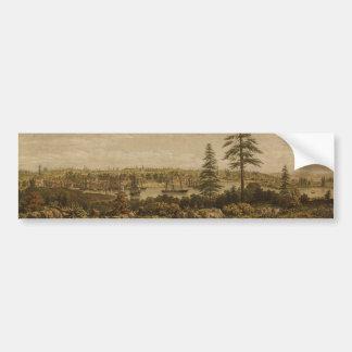 Vintage Pictorial Map of Victoria Vancouver (1860) Bumper Sticker