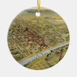Vintage Pictorial Map of Waco Texas (1892) Ornament