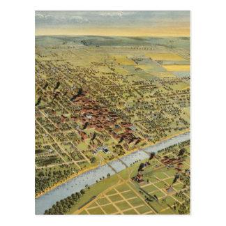 Vintage Pictorial Map of Waco Texas (1892) Postcard