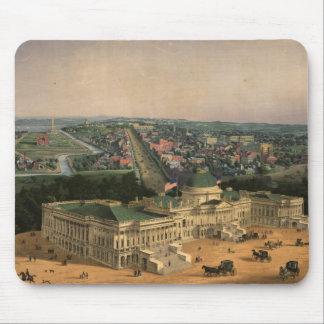 Vintage Pictorial Map of Washington D C 1852 Mouse Pads