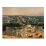 Vintage Pictorial Map of Washington D.C. (1852) Post Card