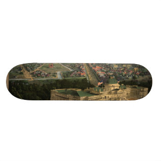 Vintage Pictorial Map of Washington D.C. (1852) Skateboard Deck