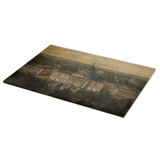 Vintage Pictorial Map of Washington D.C. (1857) Cutting Boards