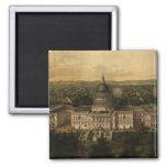 Vintage Pictorial Map of Washington D.C. (1857) Refrigerator Magnets