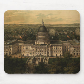 Vintage Pictorial Map of Washington D C 1857 Mousepads