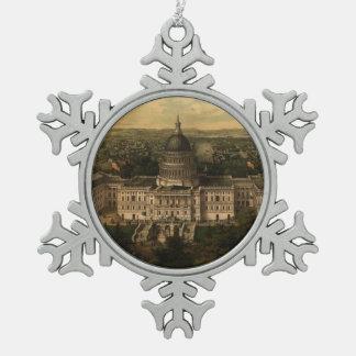 Vintage Pictorial Map of Washington D.C. (1857) Ornaments