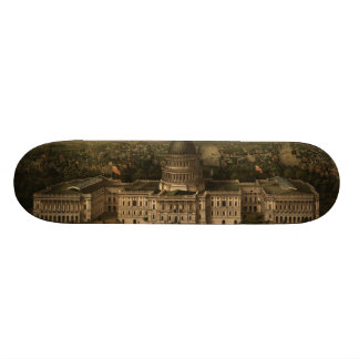 Vintage Pictorial Map of Washington D.C. (1857) Skateboard