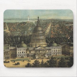 Vintage Pictorial Map of Washington D.C. (1871) Mouse Pad