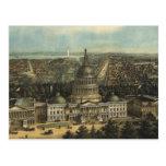 Vintage Pictorial Map of Washington D.C. (1871) Postcard