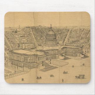 Vintage Pictorial Map of Washington D.C. (1872) Mouse Pad
