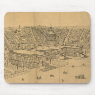 Vintage Pictorial Map of Washington D C 1872 Mousepad