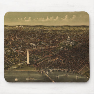 Vintage Pictorial Map of Washington D.C. (1892) Mouse Pad