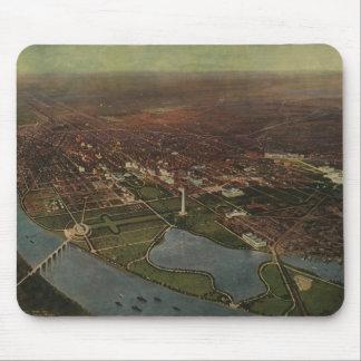 Vintage Pictorial Map of Washington D C 1916 Mouse Pad