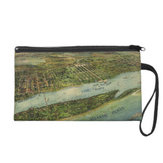 Vintage Pictorial Map of West Palm Beach (1915) Wristlet