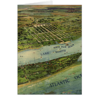 Vintage Pictorial Map of West Palm Beach (1915) Card