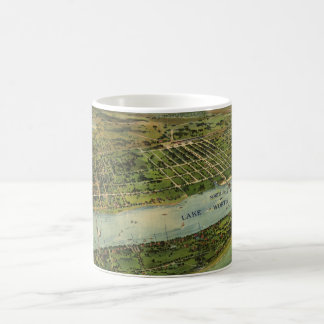 Vintage Pictorial Map of West Palm Beach (1915) Coffee Mug