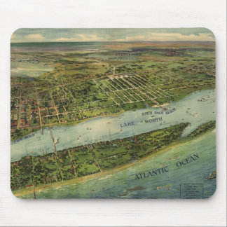 Vintage Pictorial Map of West Palm Beach (1915) Mouse Pad