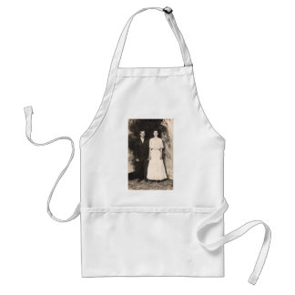 Vintage Picture of a Wedding Couple Adult Apron