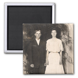 Vintage Picture of a Wedding Couple Magnet