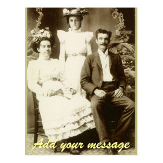 Vintage Picture of a Wedding Couple Postcard