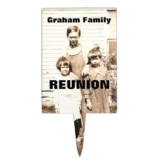 Vintage Picture of Children Personalized Reunion Cake Pick