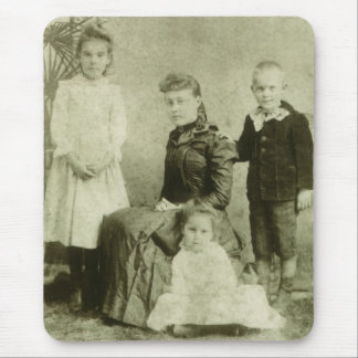 Vintage Picture of Four Siblings Mouse Pad
