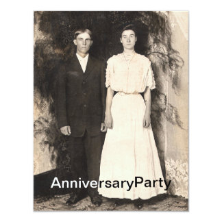 Vintage Picture of Husband and Wife Anniversary Card