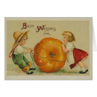 Vintage Picture Thanksgiving Card