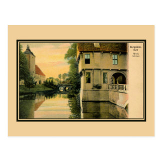 Vintage picturesque view Burgsteinfurt Post Cards