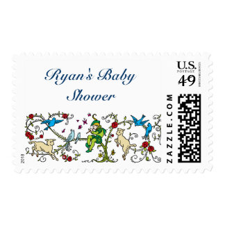 Vintage Pied Piper Baby Shower Stamp