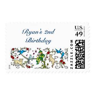 Vintage Pied Piper Birthday Postage