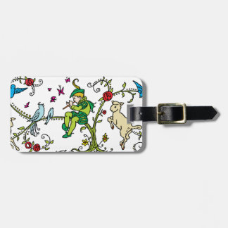 Vintage Pied Piper Luggage Tag