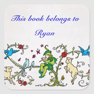 Vintage Pied Piper Personalized Book label