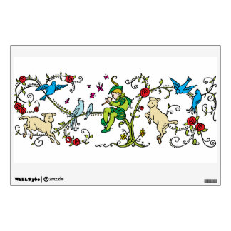 Vintage Pied Piper Wall Decal