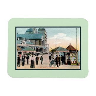 Vintage Pier gates Llandudno Wales seaside resort Magnet