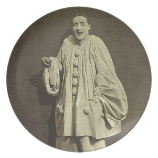 Vintage Pierrot Clown Dinner Plate