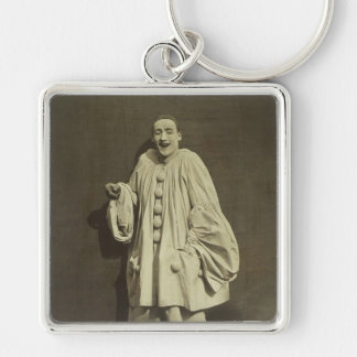 Vintage Pierrot Clown Keychain
