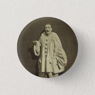 Vintage Pierrot Clown Pinback Button