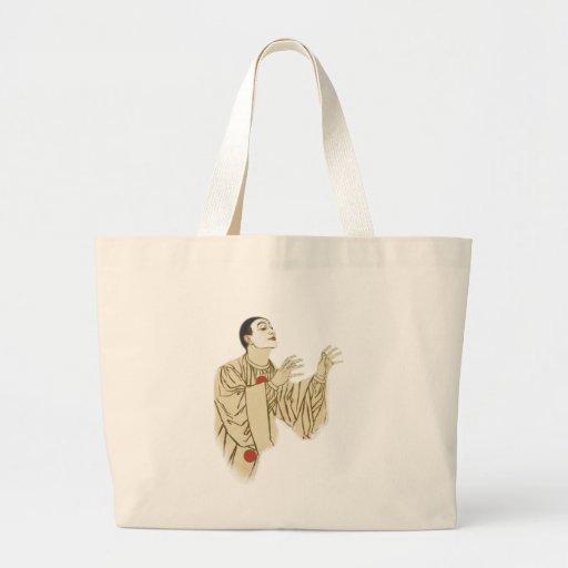 Vintage Pierrot Mime Artist Tote Bag