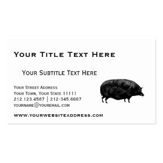 Vintage Pig Antique Print Business Card