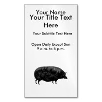 Vintage Pig Antique Print Business Card Magnet
