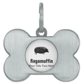 Vintage Pig Antique Print Pet ID Tag