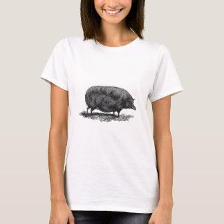 Vintage pig etching shirt