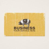 Vintage Pig Grunge Gold Business Card