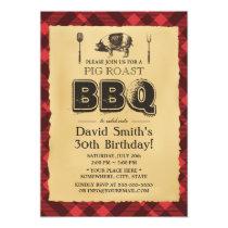 Vintage Pig Roast BBQ Birthday Party Card