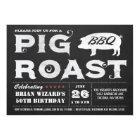 Vintage Pig Roast BBQ Invitations Chalkboard