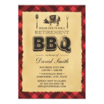 Vintage Pig Roast BBQ Retirement Party Personalized Invite