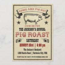 Vintage Pig Roast Invitation II