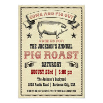 Vintage Pig Roast Invitation II