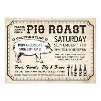 Vintage Pig Roast Invitations & Announcements | Zazzle